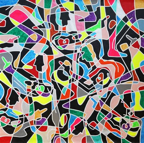Abstract Shapes Painting by Esap Abstract Painting Colorful Bold Lines Geometric