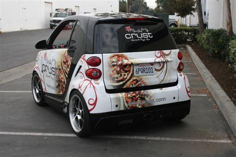 custom designed smart car wrap  iconography long beach