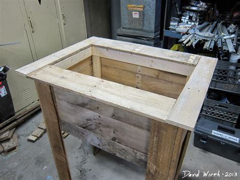 diy rustic ice chest   surface