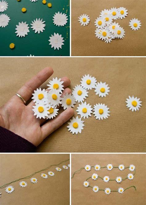 Diy Lenschirm Papier by Diy Paper Chain Blumen Basteln Einfache