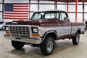 1979 Ford F150 81742 Miles Burgundy Pickup Truck V8 Manual