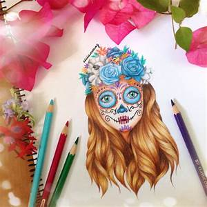 candy skull drawing | Tumblr