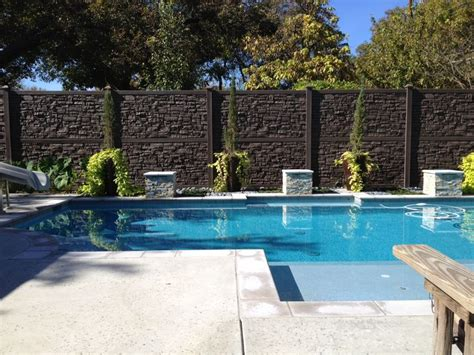 privacy pool fencing fence fencing privacy fence around swimming pools lovemyfence simtek fences in action