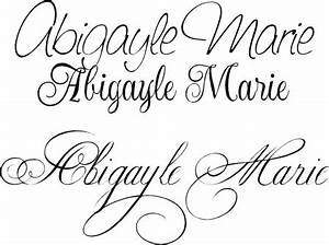 Cursive tattoo fonts. Planning out the matching Mother ...