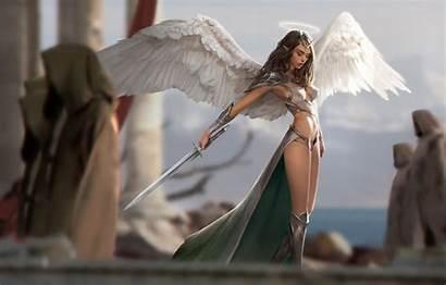 Angel Warrior Elf Sword Wings Armor Fantasy