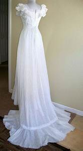 vintage wedding dress white eyelet gown with train With eyelet wedding dress