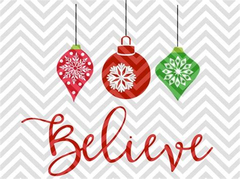 Nov 20, 2020 · any supplies used may be given to me free of charge, however, all projects and opinions are our own. Believe Hanging Christmas Ornaments SVG and DXF Cut File ...
