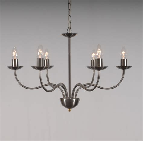 6 Arm Chandelier by The Haconby 6 Arm Wrought Iron Candle Chandelier