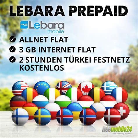 lebara prepaid allnet flat internet flat gb tuerkei