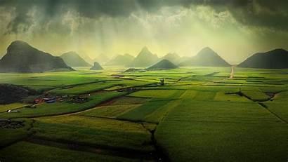 Spotlight Windows Luoping China Fields Canola Background