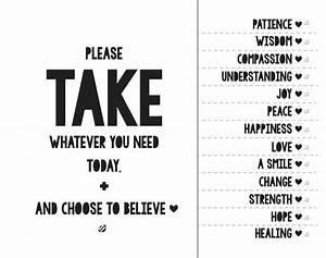 take what you need poster printable google search With take what you need template