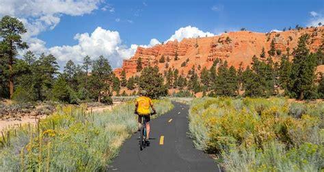 red canyon utah   bryce canyon bike trail roads