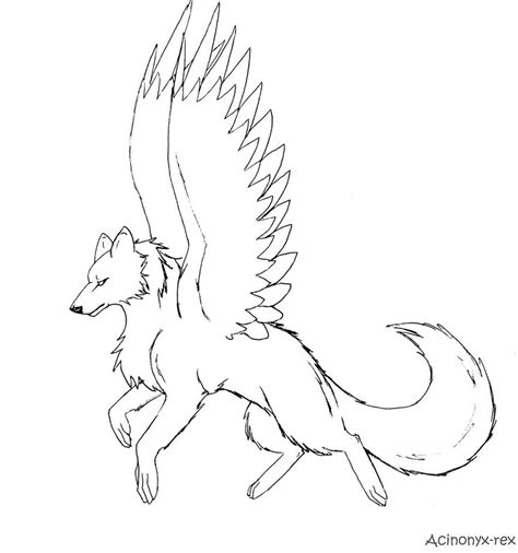 winged wolf coloring pages getcoloringpagescom