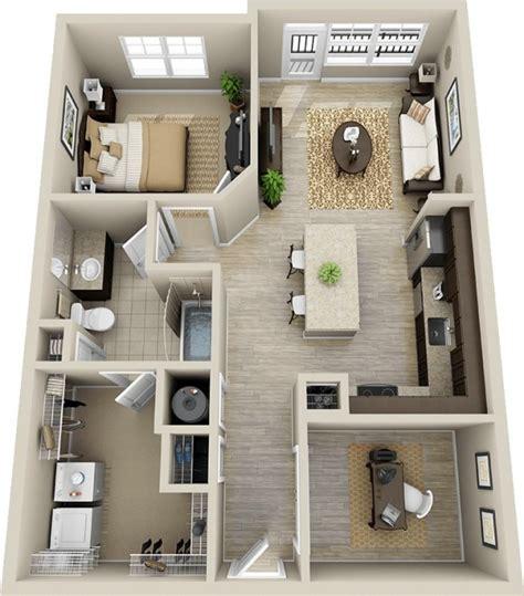 appartement 2 chambres 50 plans en 3d d appartement avec 1 chambres