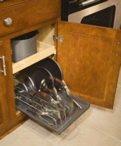 kitchen cabinet pot organizer organizing pots and pans ideas solutions pot racks 5665