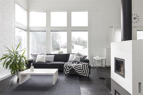 Interior design in black and white with bold effects