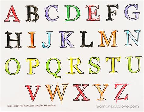 7 best images of free printable alphabet letters to print