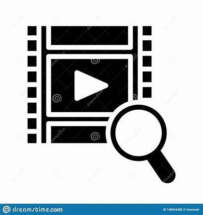 Filmstrip Icon Glyph Flat