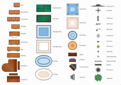 Floor Plan Clipart Clip Symbols Sofa Furniture