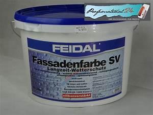 Wandputz Innen Preis : der fachhandel f r profis feidal fassadenfarbe sv weiss ~ Michelbontemps.com Haus und Dekorationen