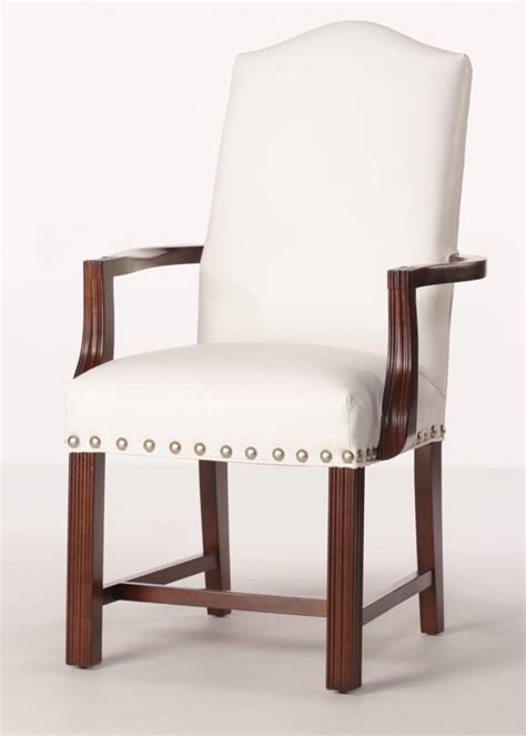 arlington arm chair leather dining chair with finished arms