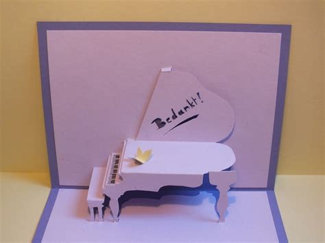 piano pop  card     pop  card papercraft
