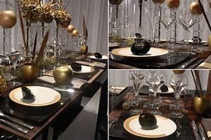 Dcoration De Table Noir Et Or