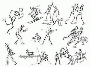 Really Cool Stick Man Drawings
