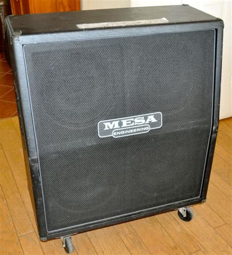 Mesa Boogie Cabinet Serial Number by Mesa Boogie 4x12 4fb Slant Cabinet Black Reverb