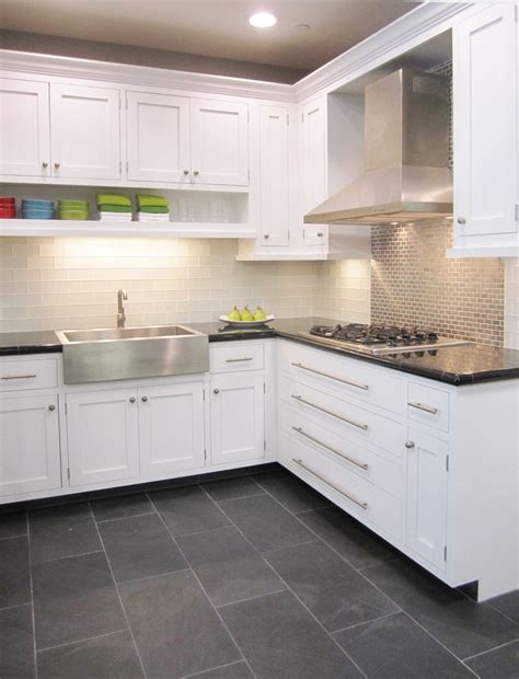subway tile floor kitchen frosted white glass subway with stainless steel 5926