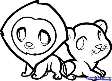 draw lions  kids step  step animals  kids