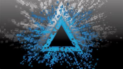 Abstract Black White Blue by Abstract Blue Black White Burst Triangle Pixelated