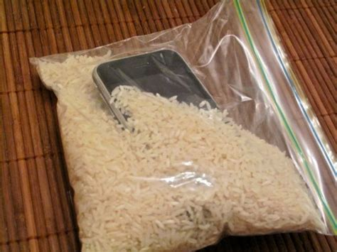 how do you leave your iphone in rice oh no i dropped my phone into water what should