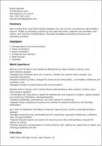 free administrative assistant resume professional entry level administrative assistant templates to showcase your talent