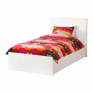Lit Haut Ikea : malm cadre de lit haut 2 rangements blanc ikea ~ Teatrodelosmanantiales.com Idées de Décoration