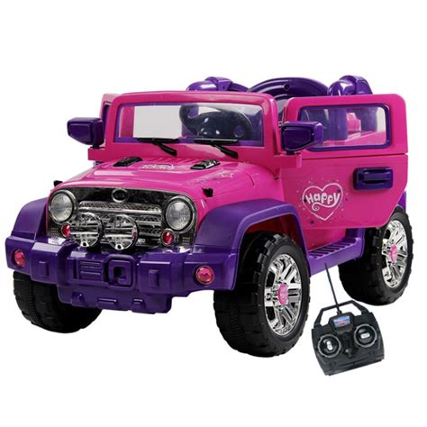 pink toy jeep buy girls pink electric battery powered ride on toys
