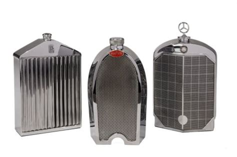 "Classic Luxury Car Grille Decanters / Flasks ""i"