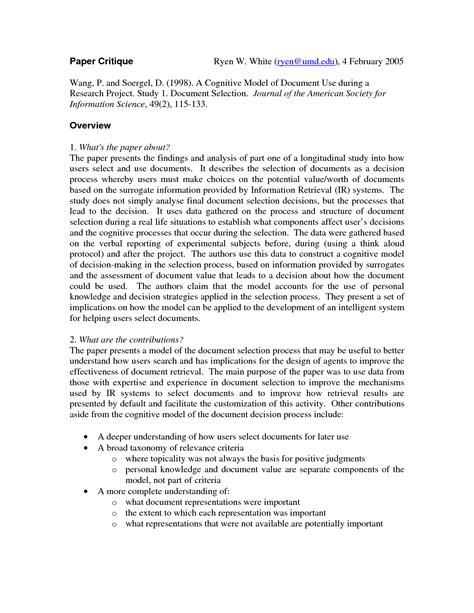 qualitative research critique essay  essay