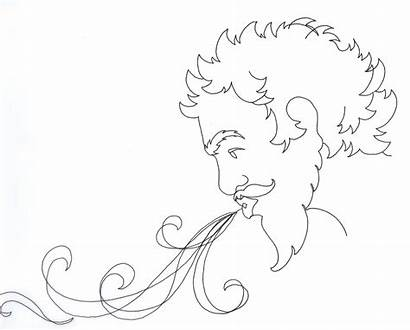 Wind Blowing Drawing Coloring Map Swirls Cloud