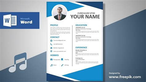 awesome clean resume designing  microsoft word musical
