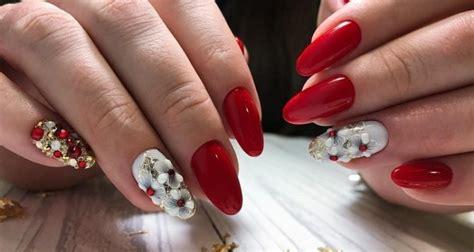 Маникюр красный с белым . Мир Модниц и Модников