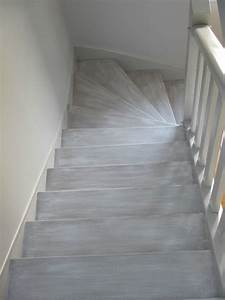 decoration d39interieur peinture d39un escalier tendance With nice peindre des escalier en bois 16 les escaliers avant apras