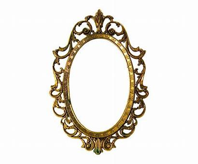 Oval Objects Object Mirror Shaped Clipart Frame