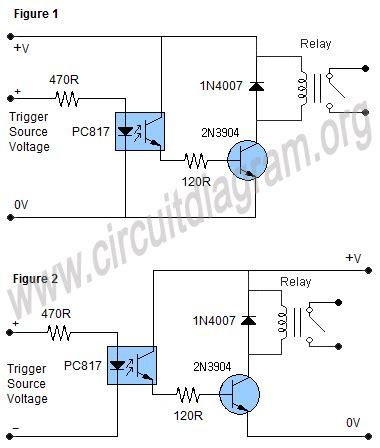 optocoupler relay driver circuit diagram