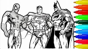 Spiderman Superman Batman Coloring Pages | Colouring Pages ...