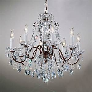Classic traditional chandelier atn light pellucid crystal oil rubbed bronze free