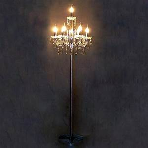 Antique Big led silver floor lamp tall standing lamp for ...