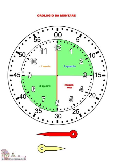 cool orologio schede didattiche scuola primaria fi52 pineglen