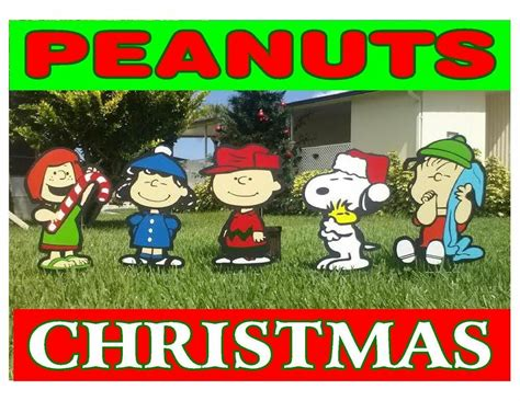 peanuts outdoor christmas decorations ebay