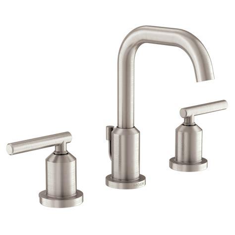 lowes bathroom sink faucets brushed nickel shop moen gibson spot resist brushed nickel 2 handle